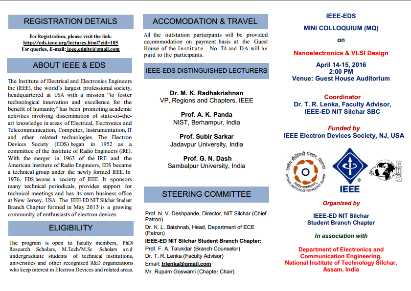 IEEE-EDS | NIT Silchar